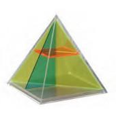Pirâmide quadrada seccionada - 124