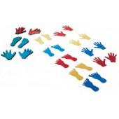 Conjunto pés/mãos 143