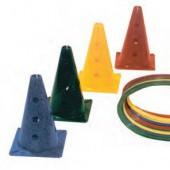 Cones p/ ginástica 50 cm 12 furo- 0069