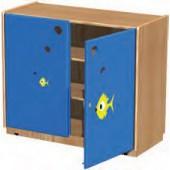 Armário fechado na01(i) 100x43,5x85 cm