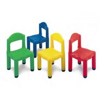 Cadeira plástica azul