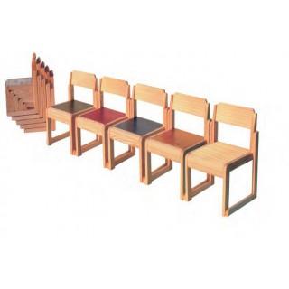 Cadeira empilhável 41 cm - vermelho