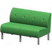 Sofá duplo metálico cc03mb