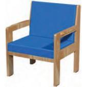 Sofá individual de madeira com braços cc02 mb (i)