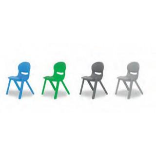 Cadeira flex tamanho 2 (30cm) cinza claro