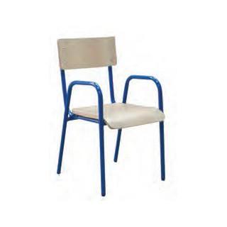 Cadeira com braços est.amarela 40 cm
