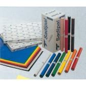 Rolo de papel lustro 25x50x65 azul cobalto