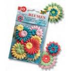 Conjunto de 30 flores em papel coloridas 76142