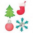 Cortante ornamentos de natal sizzix - siza10598