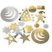 Conjunto de formas decorativas ouro/prata - 9866