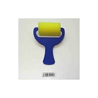 Rolo de espuma amarelo 7cm com pega azul