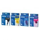 Pack cartuchos de tinta Preta/ cian/ Magenta/ Amarela. 350 pág.BK e 300 pág C/M/Y. p/ DCP135/150C/MFC235C/260C