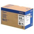 Fita Alta qualidade de 8m/24mm - Branco/Preto (Cx. de 5un) - Para utilizar com PT-9500PC/9700PC/9800PCN