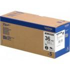 Fita Alta qualidade de 8m/36mm - Branco/Preto (Cx. de 5un) - Para utilizar com PT-9500PC/9700PC/9800PCN