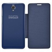 Flip case alcatel idol x + bluish black