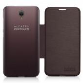Flip case alcatel idol 2 brown