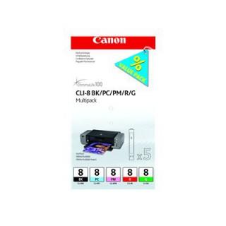 CLI-8 BK/PC/PM/R/G Multi Pack sem segurança - preço válido p/ unid pré-estabelecidas para a promoção