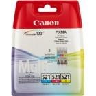 CLI-521 C/M/Y Pack com segurança