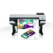iPF830 de 44 com 5 tinteiros CMYBk+MBk Hot Swap, rolo de alimentação, disco, pedestal com cesto e PosterArtist Lite-
