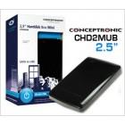 Caixa para disco duro de 2.5 HDD Mini Casing USB 2.0 para SATA HDD - Cor: Preto