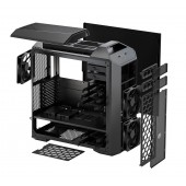 MasterCase Pro 5, exterior expandability, unique click and click, supports up to 6x 140mm fans, Top cover panel for 240m