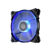 Jet Flow 120mm Blue Led, 800-2000RPM, 95 CFM, Rubber pads, w/ silent adapter: 1600/1200 RPM (fixed), POM Bearing ? CM 4t