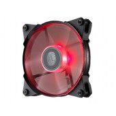 Jet Flow 120mm Red Led, 800-2000RPM, 95 CFM, Rubber pads, w/ silent adapter: 1600/1200 RPM (fixed), POM Bearing ? CM 4th