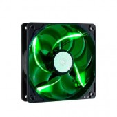 Sickle Flow 120mm Green LED Fan, 2000rpm, 69,69 CFM,Long-Life Sleeve, 50.000H