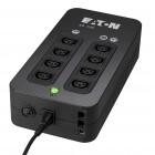 Eaton 3S 700 IEC - 700VA / 420W, Bloco de 8 tomadas IEC - 4 com autonomia