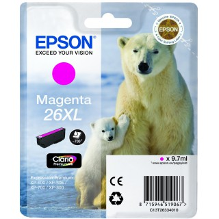 Tinteiro Magenta 26XL Alta Capacidade Claria Premium