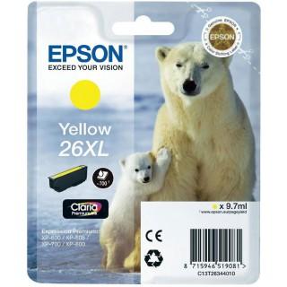 Tinteiro amarelo 26XL Alta Capacidade Claria Premium