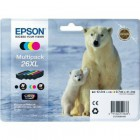 Multipack 4 cores 26XL Alta Capacidade Claria Premium