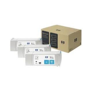 HP no. 81 Dye 3-Ink Multipack, Cyan- preço válido p/ unidades pré-estabelecidas p/ a promoção