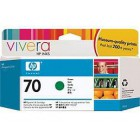 HP 70 130 ml Green Ink Cartridge with Vivera Ink