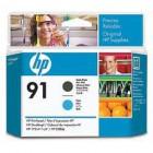 Cabeça de Impressão HP 91 Matte Black e Cyan