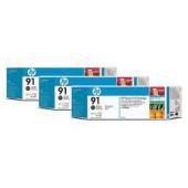 HP 91 Photo Black Ink Cartridge 3-pack - 3 ink cartridges 775 ml each, not for individual sale