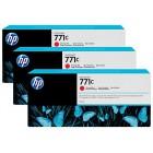 HP 771C 3-pack 775-ml Chromatic Red Designjet Ink Cartridges