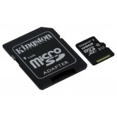 Micro SDHC 128GB Class 10 UHS-I 45MB/s Read Card + SD Adapter