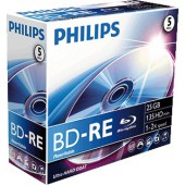 Philips Blu-Ray ReWritable 25GB 2x Jewel Case (5 unidades)