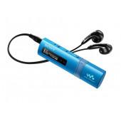 NW-ZB183FL Azul - Leitor mp3 Walkman 4GB, 18 horas de autonomia, Design fino e elegante, USB Direto, Sintonizador FM