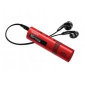NW-ZB183FR Vermelho - Leitor mp3 Walkman 4GB, 18 horas de autonomia, Design fino e elegante, USB Direto, Sintonizador FM