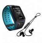 TomTom Runner2 Music + Auscultadores Bluetooth - Preto/Cinza (Tamanho bracelete S)