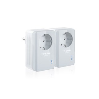 AV500+ Powerline Kit with AC Pass Through, 500Mbps Powerline Speed,1 port Fast Ethernet, Homeplug AV, Green Powerline,Pl