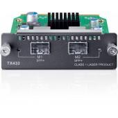 JetStream 10-Gigabit 2-Port SFP + Module, Optional Module for T3700G-28TQ, 2 10G SFP+ Slots, Compatible with SFP+ Transc