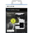Carregador belkin mini dual usb charger with usb f8z899cw