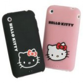 Bolsa h. kitty (pk 2) bk+pk iphone 3g/3gs hkf3006