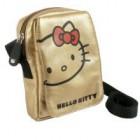 Bolsa hello kitty foto dourada