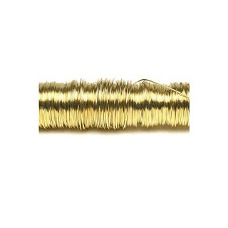 Arame dourado 0.3mm. 50m. 30gr