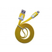 Cabo dados new mobile iphone 5 flat cable 1m amarelo