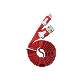 Cabo dados new mobile iphone 5 flat cable 1m vermelho